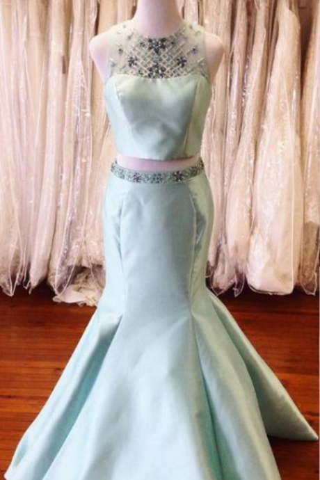 Two Pieces Mermaid Prom Dress