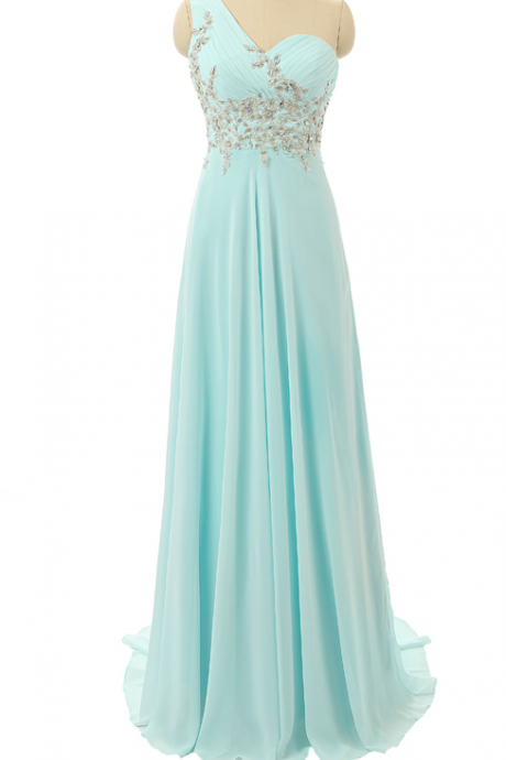 One Shoulder Formal Occasion Dress