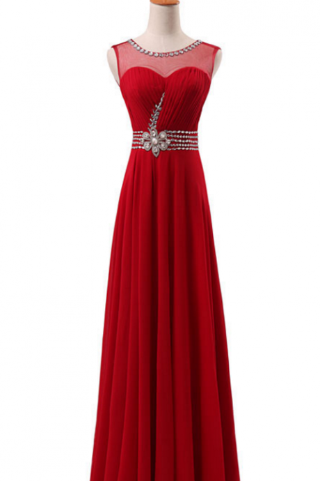 The newly arrived elegant dress with elegant long gown in the front hall pleated skirt, formal zipper crystal bead dress evening dresses