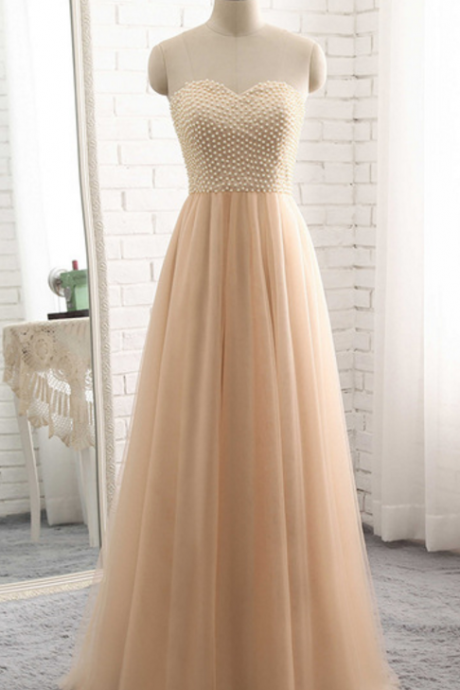 The most popular vestibule champagne, formal evening dress, pearl blouse, ball gown gown