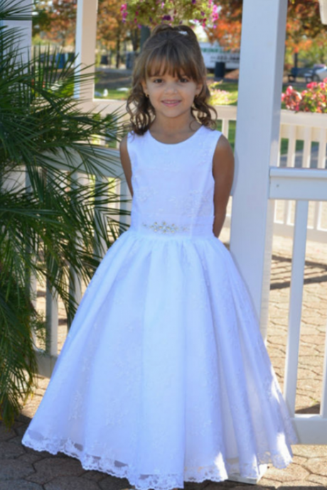 Ankle Length Lace Girl Birthday Wedding Party Formal Flower Girls Dress baby Pageant dresses