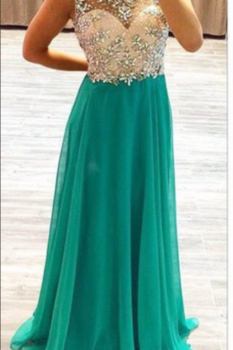 Sexy backless prom dress, chiffon prom dresses, long prom dresses, prom dresses
