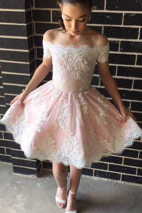 short prom dress , white prom dress , boat neck prom dress , short prom dress , prom dress , formal dress for prom , prom gown