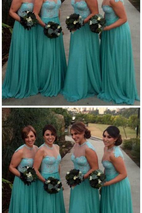 Cheap Custom Make Formal A Line Long Wedding Bridesmaid Dresses
