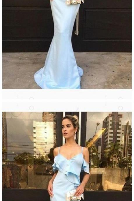 Blue Prom Dresses, Mermaid Prom Dress,Cheap Prom Dress,Formal Dress
