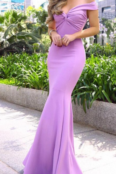 Mermaid Off Shoulder Prom Evening Dresses