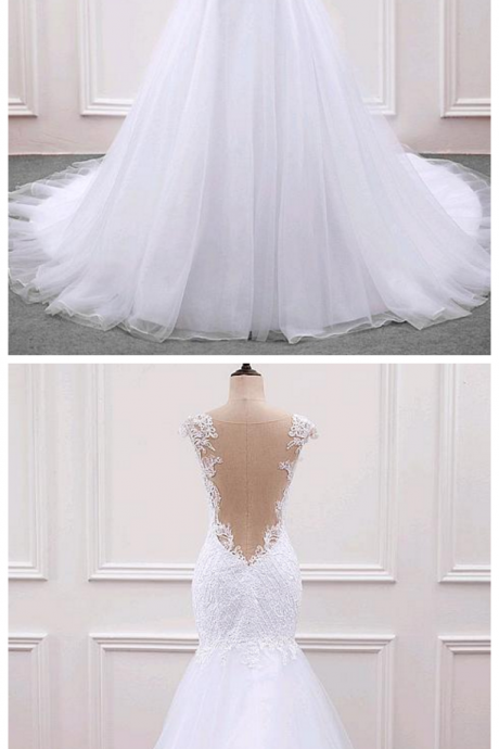 Organza Sweetheart Neckline Mermaid Wedding Dress