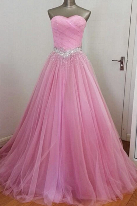 Handmade Beaded Long Formal Gown, New Prom Dress