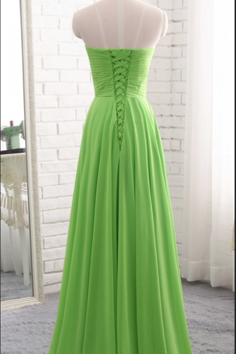 elegant evening gown, elegant chiffon ball gown,Long Prom Dress, Sleeveless Chiffon Evening Dress