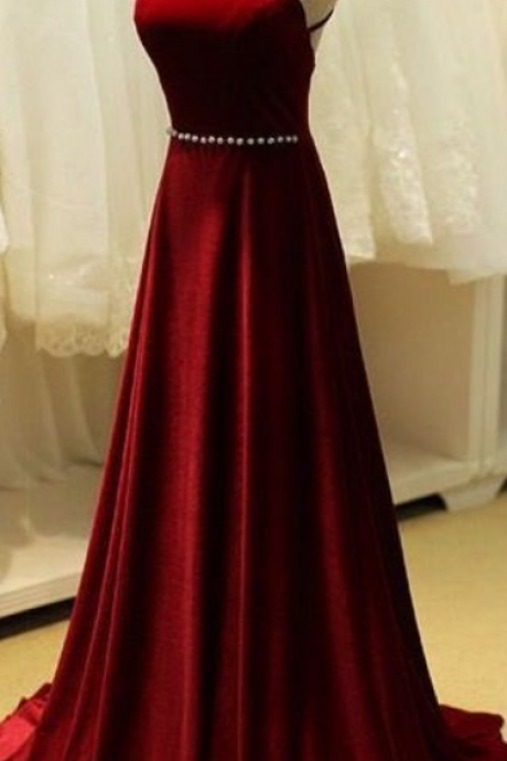 new evening dress,long ball gowns,red chiffon prom dress ,halter neck party dress, beads evening gowns ,floor length party dress,