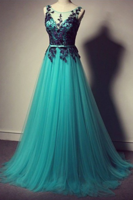Turquoise Prom Dress with Black Lace, Tulle Prom Dress,Long Prom Dress,Cheap Prom Dress,Prom Gown,Turquoise Evening Dress, Tulle Evening Dress, Long Evening Dress, Cheap Prom Dress,Formal Dress, Homecoming Dresses, Graduation Dress, Party Dress