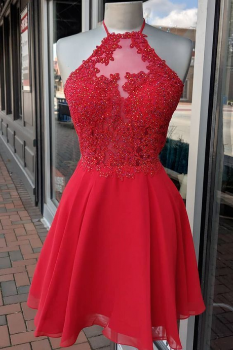 Princess Red Straps Short Homecoming Dress/Prom Gowns