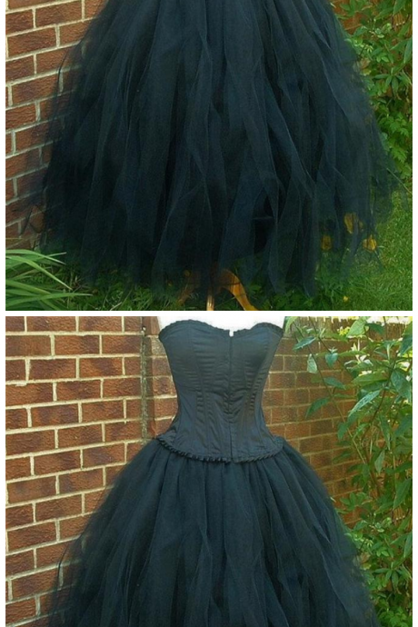 tulle goth steampunk bridesmaid alternative clothing wedding dress