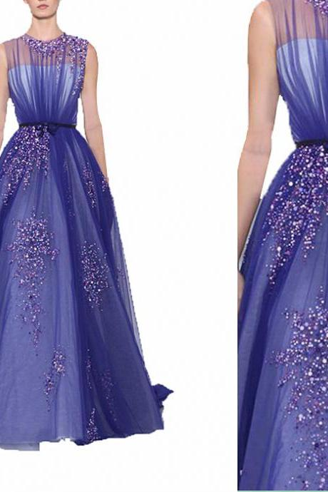 HG 509 Evening Dresses,Luxury Evening Dresses,Sparkle Evening Dresses,Purple Evening Dresses,Beaded Evening Dresses,Sequin Evening Dresses,New Arrival Evening Dresses,Long Evening Dresses,Tulle Evening Dresses,Modest Evening Dresses,Dresses for Evening