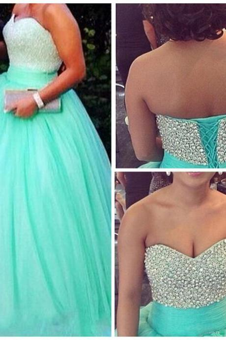 long elegant turquoise prom dresses,formal ball gowns, long beaded strapless prom dresses,long sweetheart beaded evening dresses , sexy formal prom dresses,dresses party evening,sexy evening gowns,formal dresses evening,2016 new arrival formal dresses