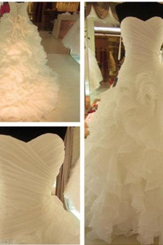 New Stock White/Ivory Organza Wedding Dress Bridal Gown Size Bridal gowns