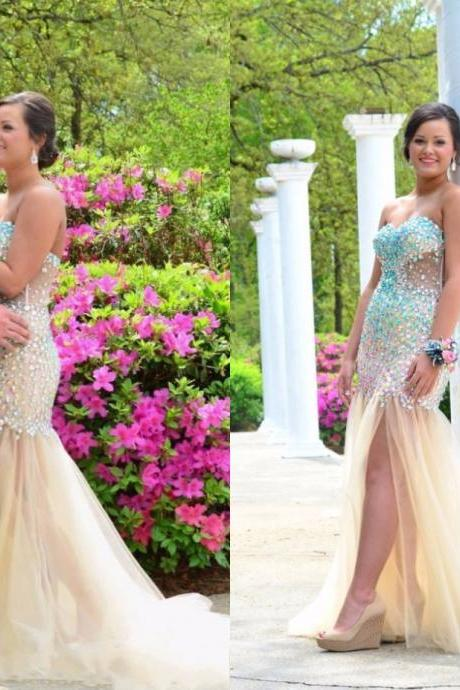 Prom Dresses,New Style Prom Dresses,Luxury Prom Dresses,Beaded Prom Dresses,Handmade Prom Dresses,Sequin Prom Dresses,Long Prom Dresses,Spakle Prom Dresses,Bling Prom Dresses,Side Split Prom Dresses,Dresses for Prom
