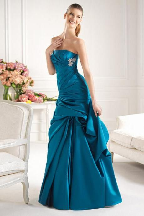 Custom high quality satin wedding dress, Homecoming dear evening dress
