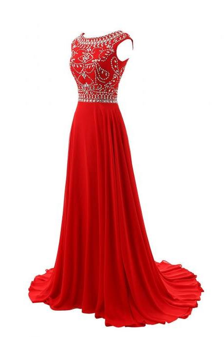 Sparkle Burgundy Beadings Prom Gown Red New Style Prom Dresses Evening Dress Pageant dresses for formal occasions
