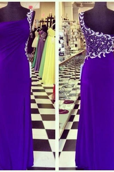 long prom dress, purple prom dress, one shoulder prom dress, gorgeous prom dress, floor-length prom dress, elegant prom dress, prom gown