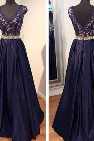 long prom dress, v-neck prom dress, cap sleeve prom dress, formal prom dress, affordable prom dress, elegant prom dress, evening dress