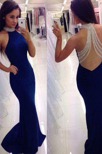 Long prom dress, royal blue prom dress, sexy prom dress, cheap prom dress, mermaid prom dress, popular prom dress, evening dress