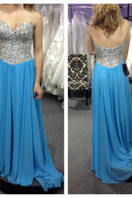 High Quality Prom Dress,A Line Prom Dress,Sequined Prom Dress,Beading Graduation Dress,Long Prom Dress,Custom Made Prom Dress,Chiffon Party Dress,Sexy Strapless Evening Dress