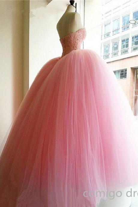 Pretty Quinceanera Dress,Prom Dress,Formal Quinceanera Dress,Tulle Quinceanera Dress,Handmade Quinceanera Dress for 16 ,Pink Quinceanera Dress,Ball Gown Quinceanera Dress,Vintage Prom Dress