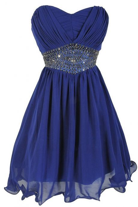 Royal Blue Homecoming Dress,Sparkle Homecoming Dresses,Beautiful Homecoming Gowns,Fashion Prom Gowns,Beading Sweet 16 Dress,Parties Gowns