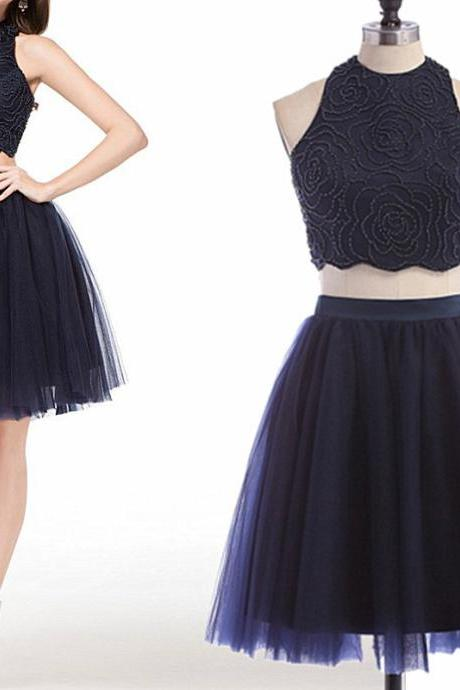 Short Homecoming Dress,Charming Homecoming Dress,Tulle Homecoming Dress,Two Piece Homecoming Dresses,Homecoming Dress,Cocktail Dresses,Graduation Dress