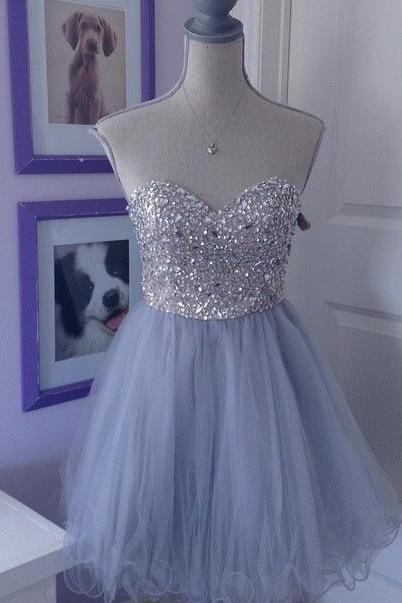 Short Homecoming Dress,Sweetheart Homecoming Dress,Tulle Homecoming Dress,Sparkly Party Dress,Short Prom Gown,Popular Homecoming Gowns,Homecoming Dress