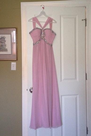 Pink Backless Prom Dresses,Prom Gowns,Pink Prom Dresses 2016, Party Dresses 2016,Long Prom Gown,Prom Dress,Sparkle Evening Gown,Sparkly Party Gown