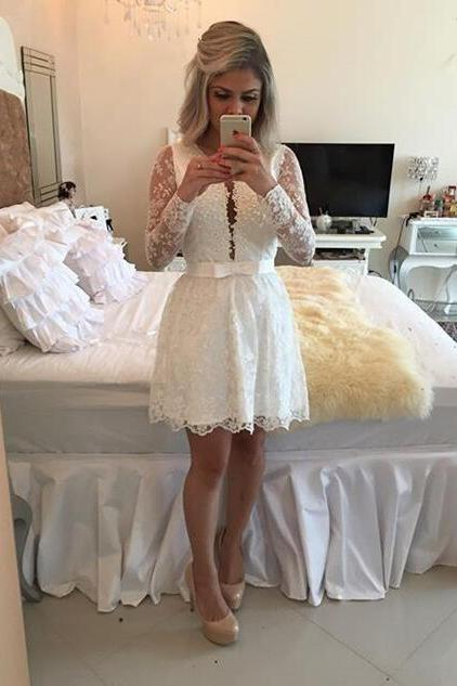 Lace Homecoming Dress,Tulle Homecoming Dress,Cute Homecoming Dress, Fashion Homecoming Dress,Short Prom Dress,White Homecoming Gowns
