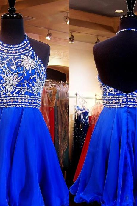 Royal Blue Homecoming Dress,Sparkle Homecoming Dresses,Beautiful Homecoming Gowns,Fashion Prom Gowns,Beading Sweet 16 Dress,Homecoming Dresses,Cocktail Dress,Parties Gowns