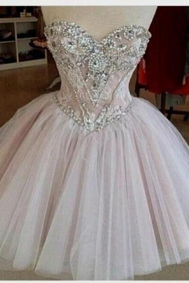 Homecoming Dress,Tulle Homecoming Dresses,Lace Homecoming Gowns,Cute Party Dress,Short Prom Dress,Elegant Sweet 16 Dress,Sparkly Homecoming Dresses,Elegant Formal Gown