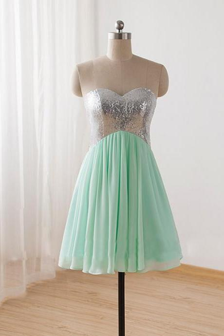 Mint Green Homecoming Dress,Strapless Homecoming Dresses,Homecoming Dress,Fitted Party Dress,Short Prom Gown,Modest Sweet 16 Dress,Cocktail Gowns,Short Evening Gowns