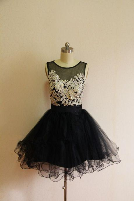 Homecoming Dress,Tulle Homecoming Dress,Cute Homecoming Dress,Lace Homecoming Dress,Short Prom Dress,Black Homecoming Gowns,Beaded Sweet 16 Dress