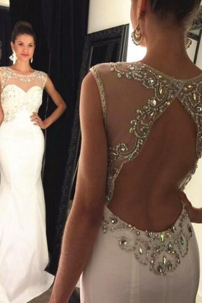 Prom Dresses,Hot Evening Gowns,Simple Formal Dresses,Prom Dresses,Teens Fashion Evening Gown,Beadings Evening Dress,Backless Party Dress,Chiffon Prom Gowns