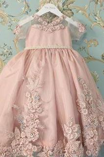 Flower girl Dress,Flower girl Dress Dresses,Cute Flower girl Gowns,Blush Pink Flower girl Dress,Sweet 16 Dress,2017 Style Homecoming Dresses For Teens