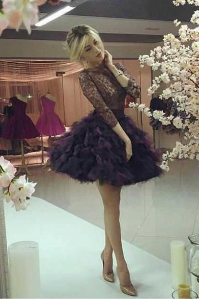 Homecoming Dress,Cute Homecoming Dress,Lace Homecoming Dress,Short Prom Dress,Black Homecoming Gowns,Sweet 16 Dress