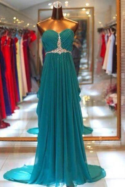 Sweetheart Prom Dress,A-Line Prom Dress,Chiffon Prom Dress,Sequined Prom Dress