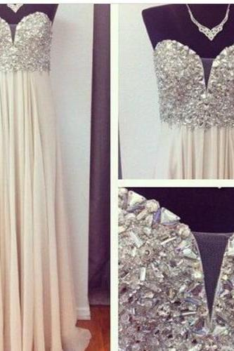 Sweetheart Sparkly Prom Dress,Long Prom Dresses Prom Dresses,Evening Dress