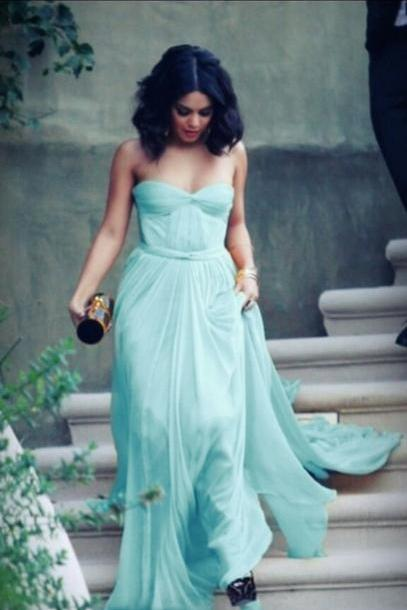 Mint Green Prom Dress,Sweetheart Sinple Prom Dresses,Evening Dress