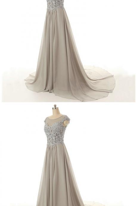 Elegant Sleeveless Prom Dress,A-Line Prom Dresses,Evening Dress