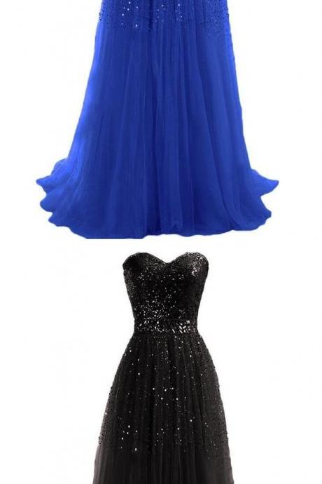 Sweetheart Prom Dress,Sparkly Prom Dresses,Long Evening Dress