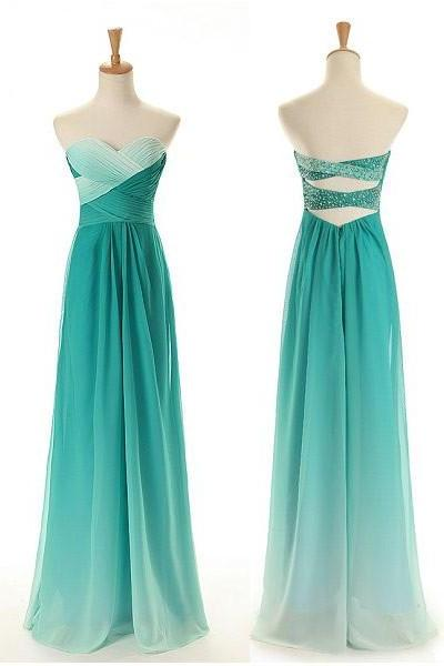 Light Green Prom Dress,Sweetheart Prom Dresses,Long Evening Dress