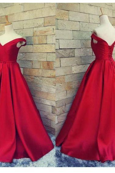 Red Prom Dresses,2017 Prom Dress,Prom Dress,Off The Shoulder Prom Dresses,Formal Gown,Sexy Evening Gowns,Red Party Dress,Mermaid Prom Gown For Teens