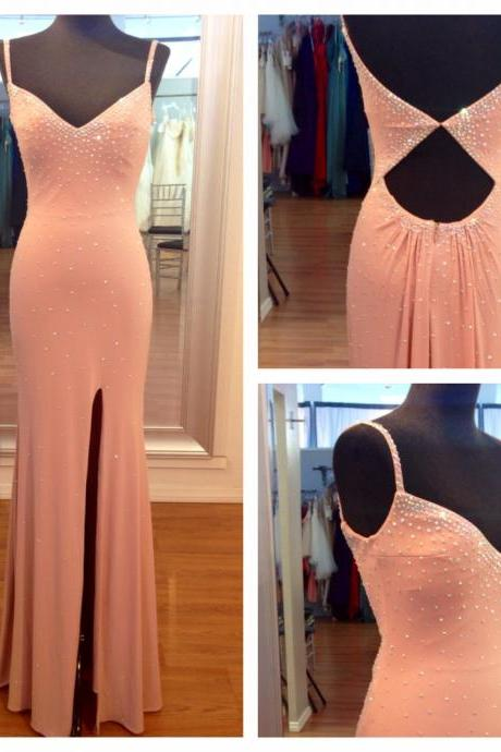 Beaded Prom Dress,Mermaid Prom Dress,Split Prom Dress,Fashion Prom Dress,Sexy Party Dress, New Style Evening Dress