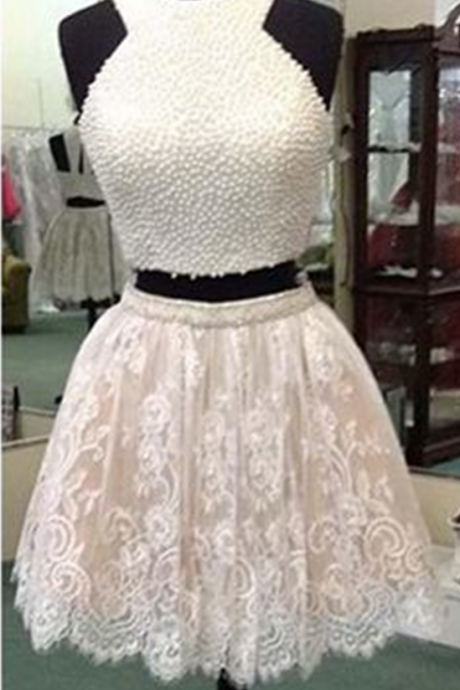 Halter Prom Dress,Beaded Prom Dress,Lace Prom Dress,Fashion Homecoming Dress,Sexy Party Dress, New Style Evening Dress