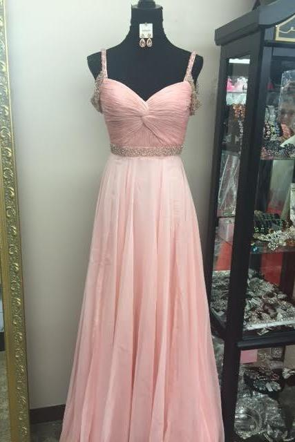 Modest Prom Dress,Pink Prom Dress,Beaded Prom Dress,Fashion Prom Dress,Sexy Party Dress, New Style Evening Dress